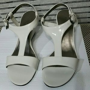 Shoes - Off White Patent Leather Sandals